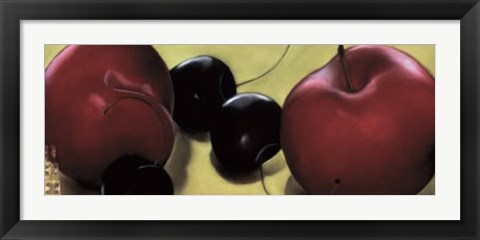 Framed Red Plums & Cherries Print