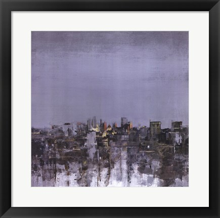 Framed City Trance I Print
