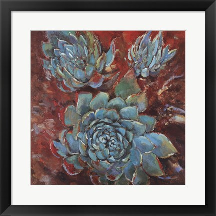 Framed Blue Agave I Print