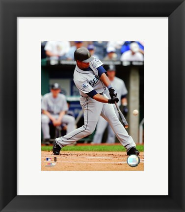 Framed Jose Guillen - 2007 Batting Action Print