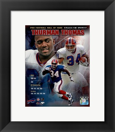 Framed Thurman Thomas - legends Composite Print