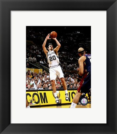 Framed Manu Ginobili - 2007 Finals / Game 2 (#6) Print