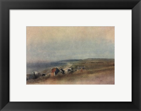 Framed Houses on Cliffs Print