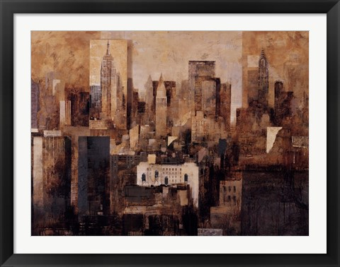 Framed Manhattan & Black Structures Print