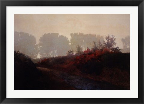Framed Red Hedge Print