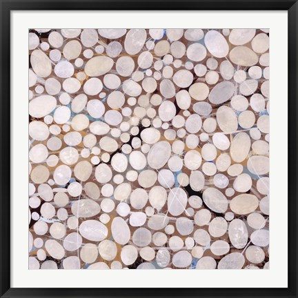 Framed River Pebbles Print