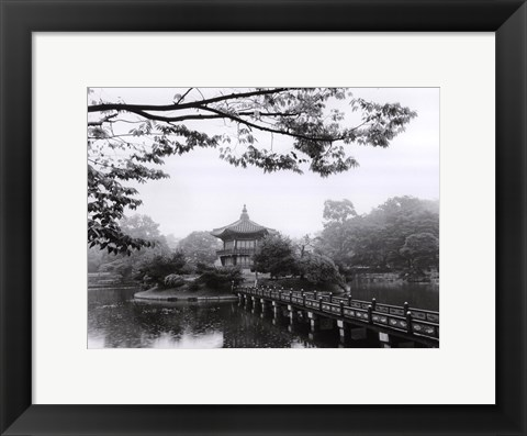 Framed Lotus Pavillion II Print