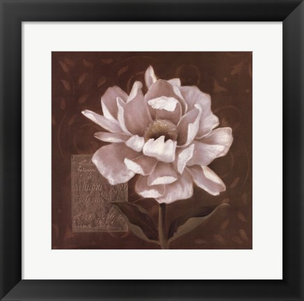 Framed Petal Soft I Print