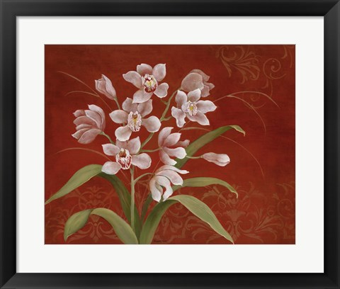 Framed Say it with Orchids I Print