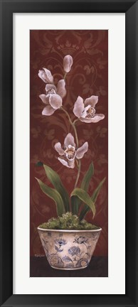 Framed Organic Orchids I Print