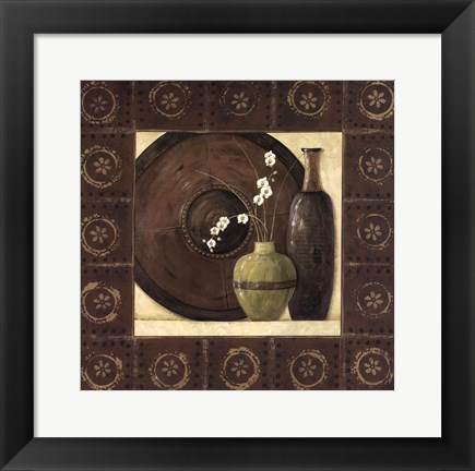 Framed Asian Still Life With Border II Print