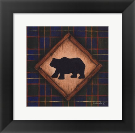 Framed Bear Print