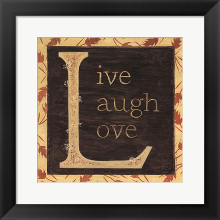 Framed Live Laugh Love Print
