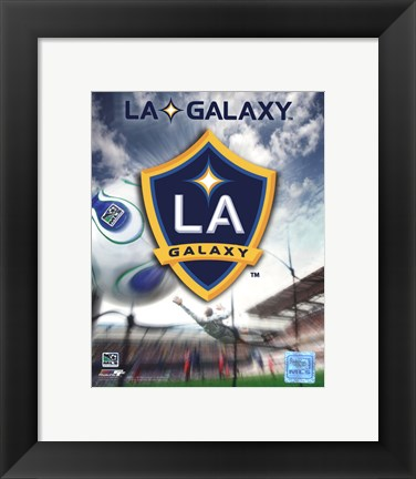 Framed LA Galaxy Team Logo (2007) Print