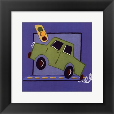 Framed Kiddie Car Print