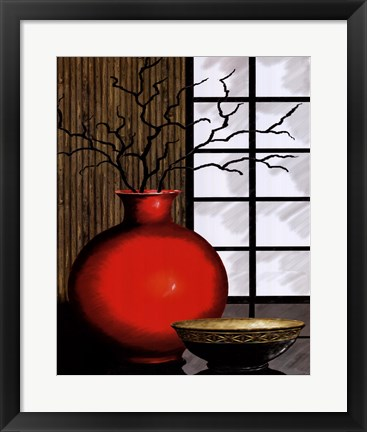 Framed Asian Red I Print