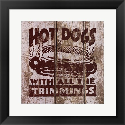Framed Hot Dog Print