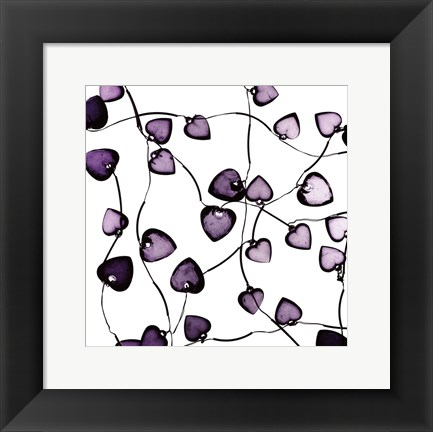 Framed Glass Hearts Print