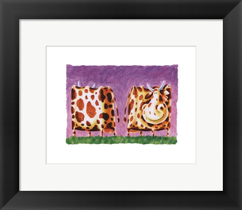 Framed Funky Cow Print