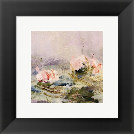 Framed Waterlily Pond, 1908 (detail I) Print