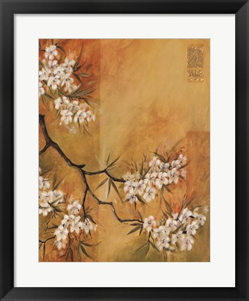 Framed Oriental Blossoms II Print