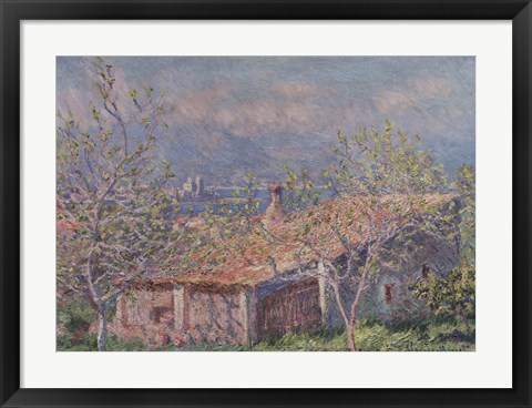 Framed Gardener's House at Antibes, 1888 Print
