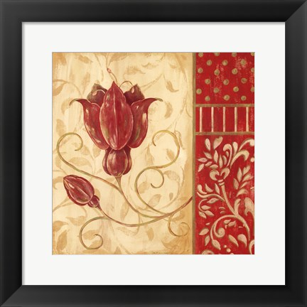 Framed Red Tulip II Print