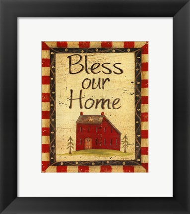 Framed Bless our Home Print