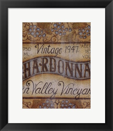Framed Valley Vineyard I Print
