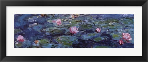 Framed Water Lilies (Detail) Print