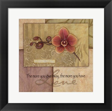 Framed Love - Orchid Print