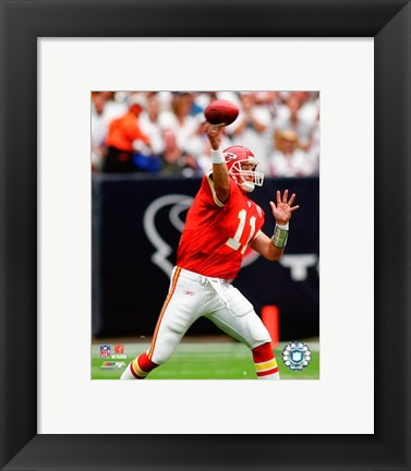 Framed Damon Huard - 2007 Action Print