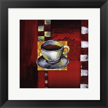 Framed Brewing Coffee Print