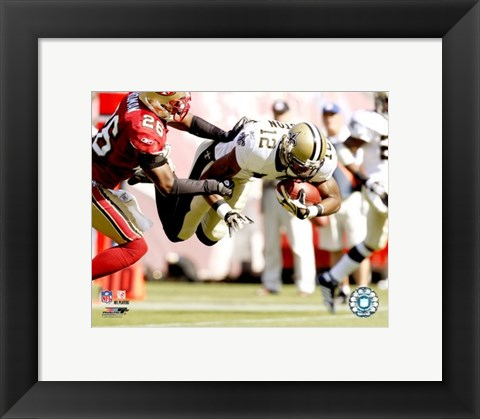 Framed Marques Colston - 2007 Action Print