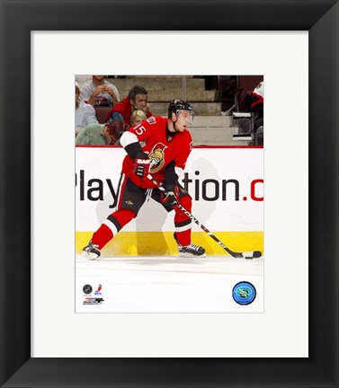 Framed Dany Heatley - 2007 Home Action Print