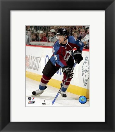 Framed Milan Hejduk - 2007 Home Action Print