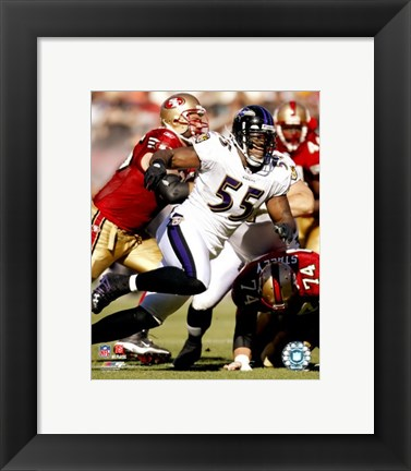 Framed Terrell Suggs - 2007 Action Print