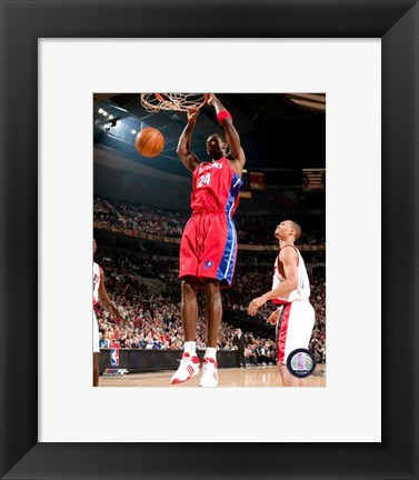 Framed Antonio McDyess 2007-08 Action Print