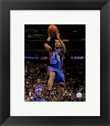 Framed Stephon Marbury 2007-08 Action Print
