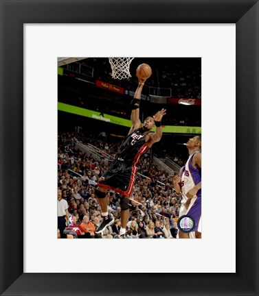 Framed Alonzo Mourning 2007-08 Action Print
