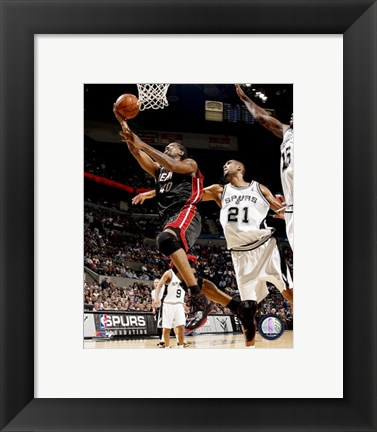 Framed Udonis Haslem 2007-08 Action Print