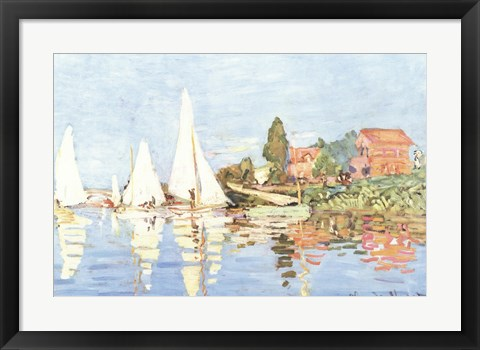 Framed Boating at Argenteuil Print