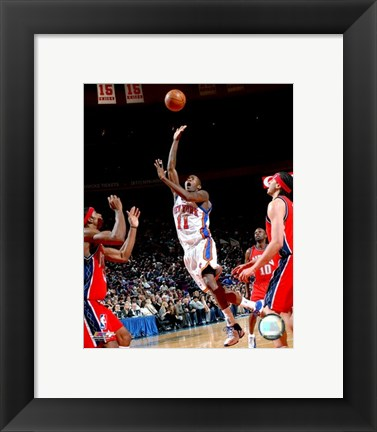 Framed Jamal Crawford 2007-08 Action On The Court Print