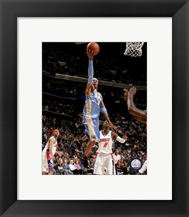 Framed Allen Iverson 2007-08 Action Reaching for Hoop Print