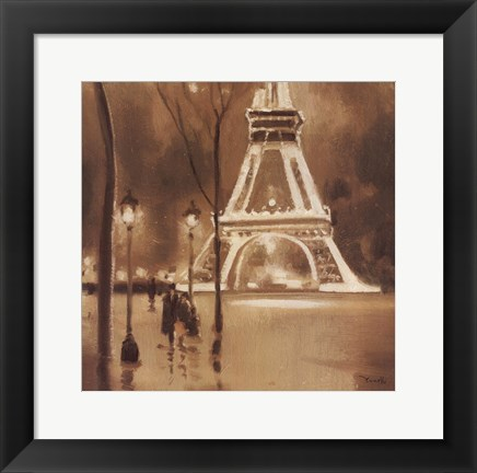 Framed Eiffel Tower Detail Print