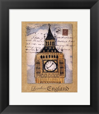 Framed Souvenir of London Print