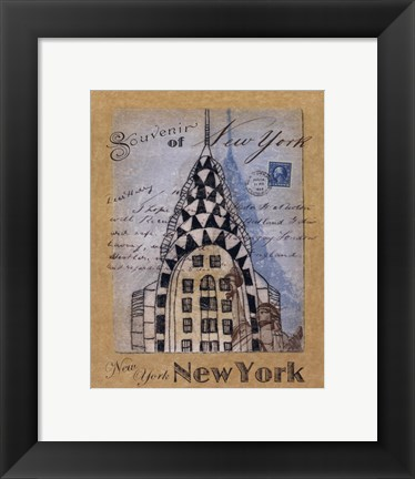 Framed Souvenir of New York Print