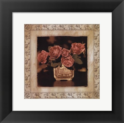 Framed English Rose I Print