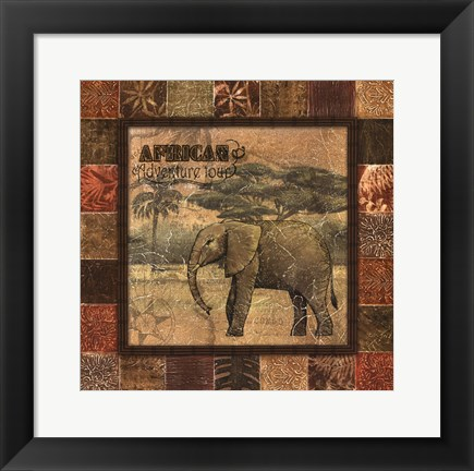 Framed Safari II - mini Print