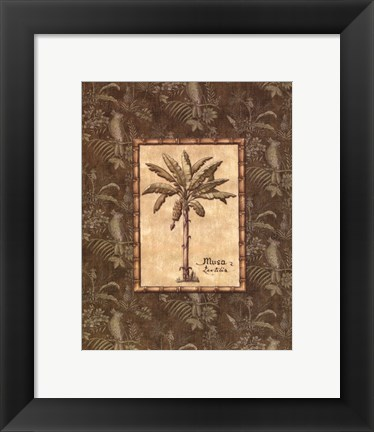 Framed Vintage Palm IV - mini Print